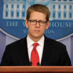 Press Secretary Jay Carney answers questions, sighs deeply in the White House briefing room Friday - (AP Photo)