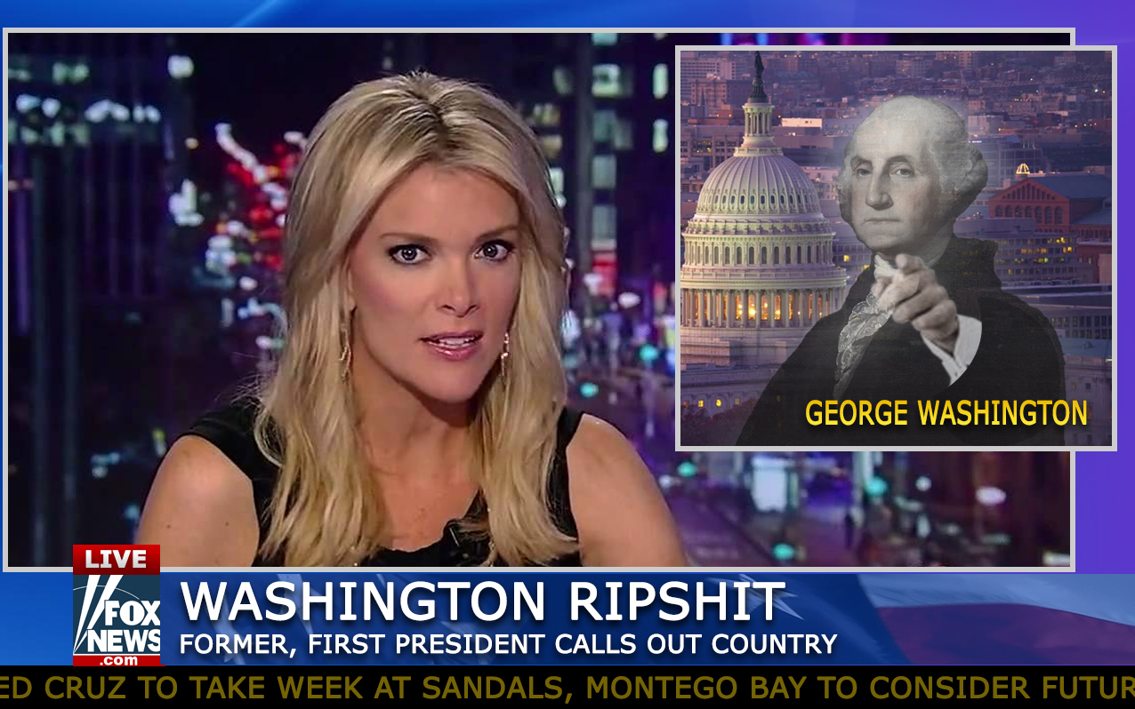 """""""You did this, all of you."""" George Washington, Wednesday evening on The Kelly File. (AP Photo)"""